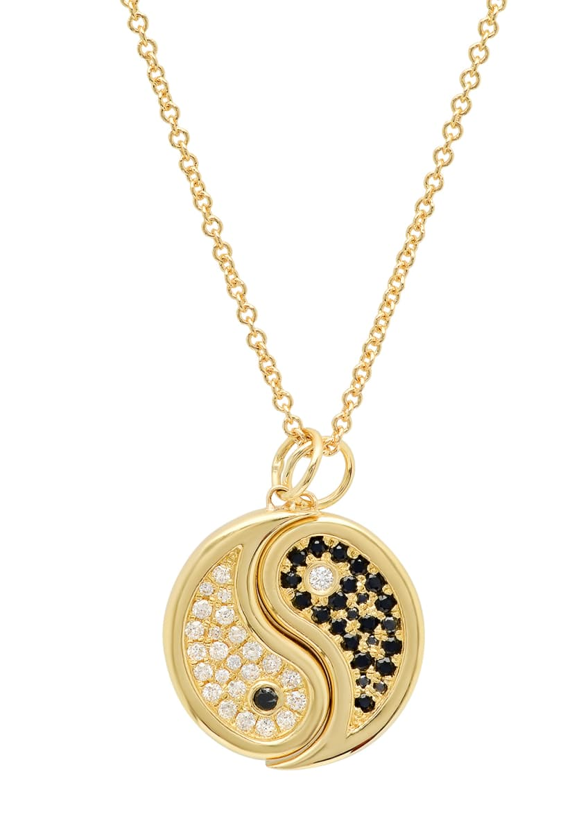 Established Jewelry 2-Piece 18k Diamond Yin-Yang Necklace Set