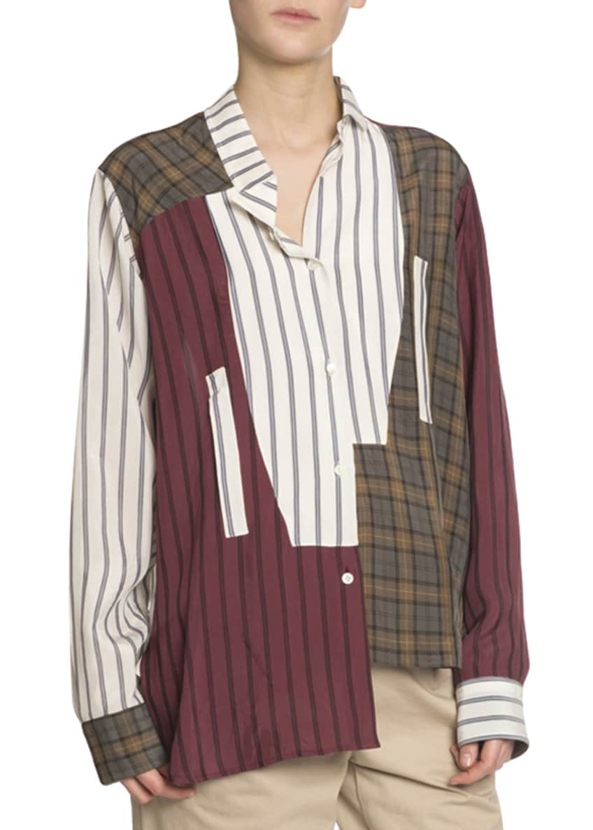 Loewe Asymmetric Patchwork Shirt & Matching Items