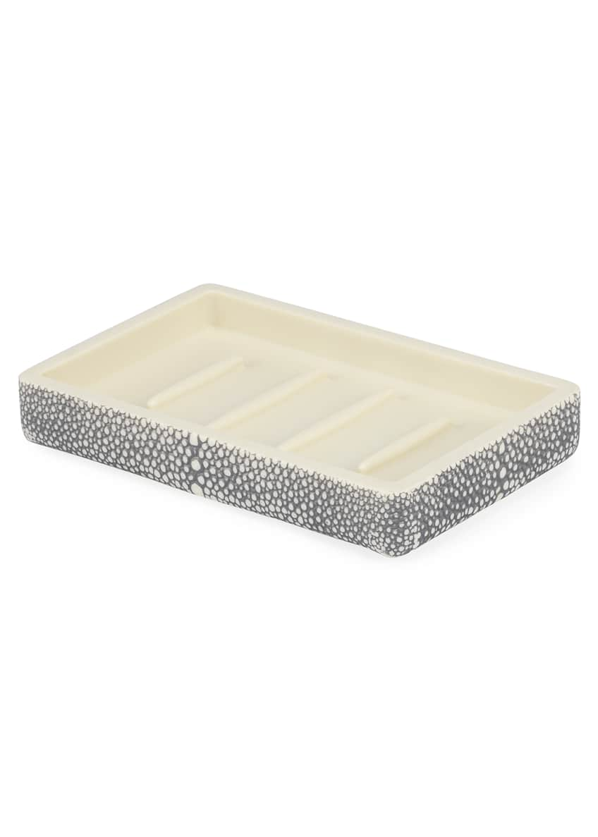 Image 1 of 1: Shagreen Samurai Soap Dish, Gray