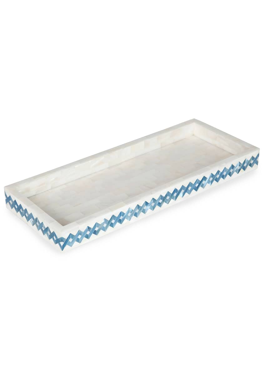 Image 1 of 1: Blue Weave Vanity Tray