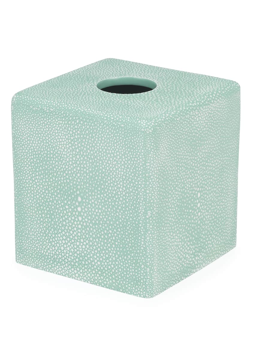 Shagreen Samurai Tissue Box Cover, Teal
