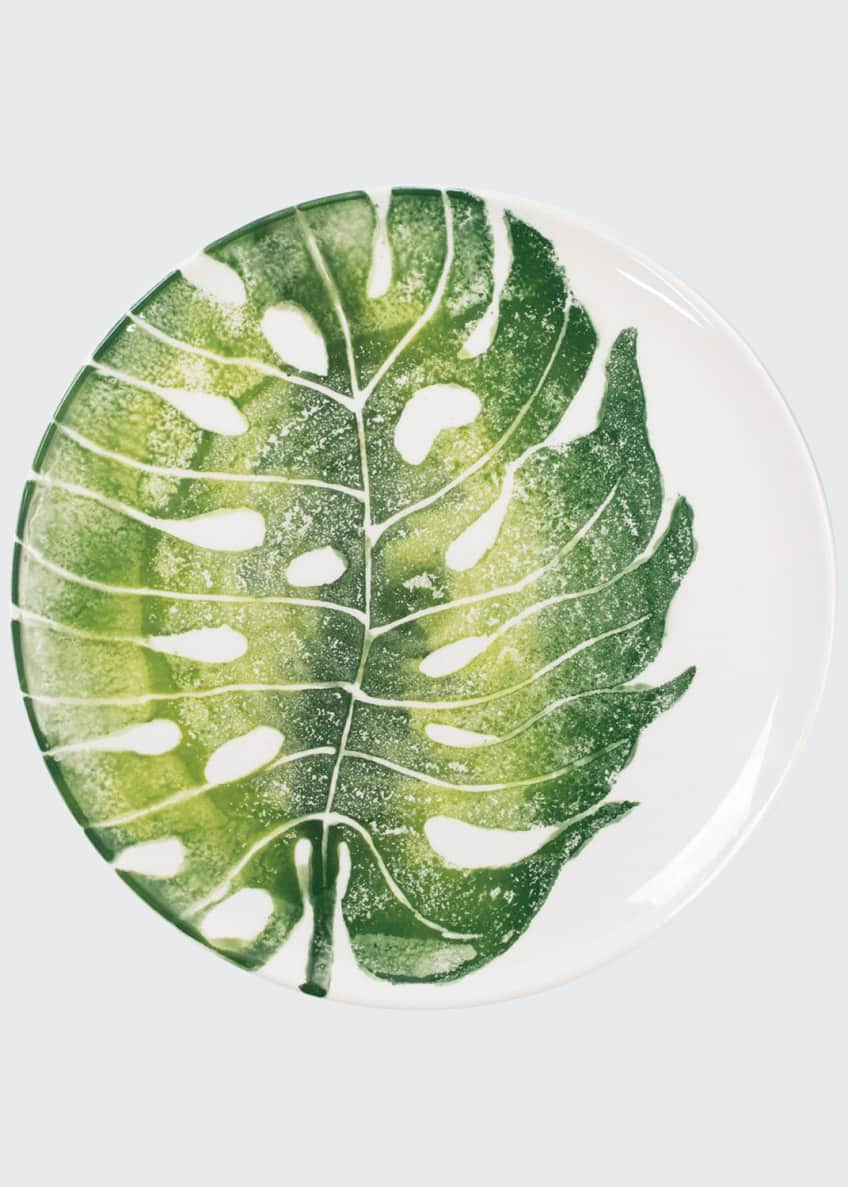 Image 1 of 2: Into The Jungle Monstera Leaf Dinner Plate