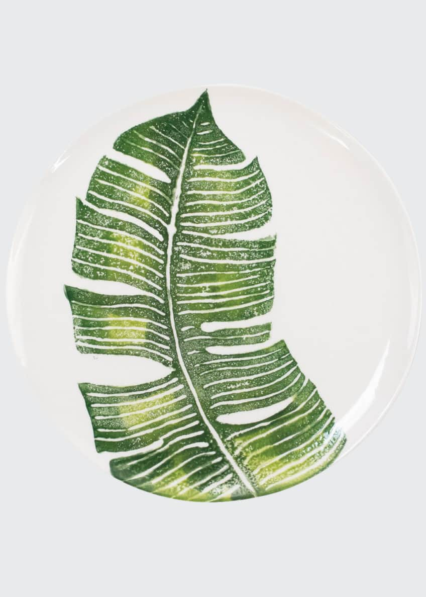 Image 1 of 2: Into The Jungle Banana Leaf Dinner Plate