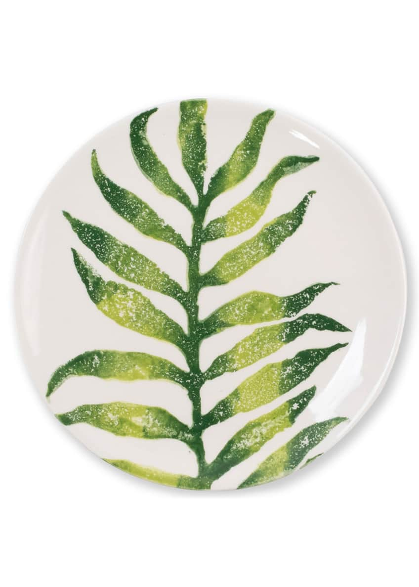 Image 1 of 2: Into The Jungle Arica Palm Leaf Salad Plate