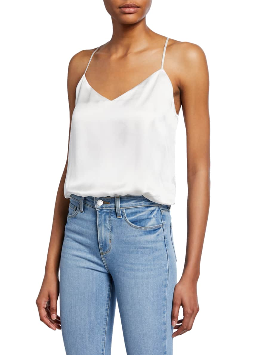 L'Agence Ryland High-Rise Denim Cutoff Shorts & Matching