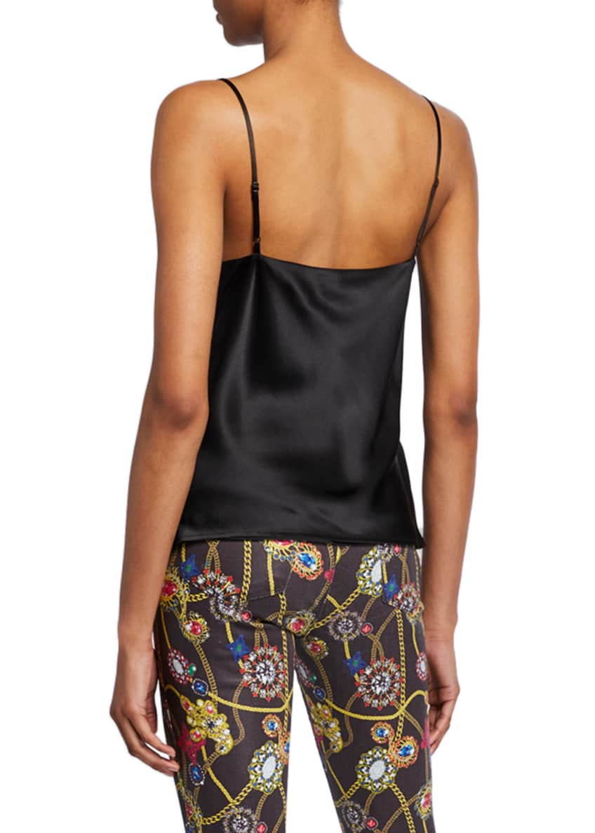 Image 2 of 6: Kay Cowl-Neck Silk Charmeuse Tank