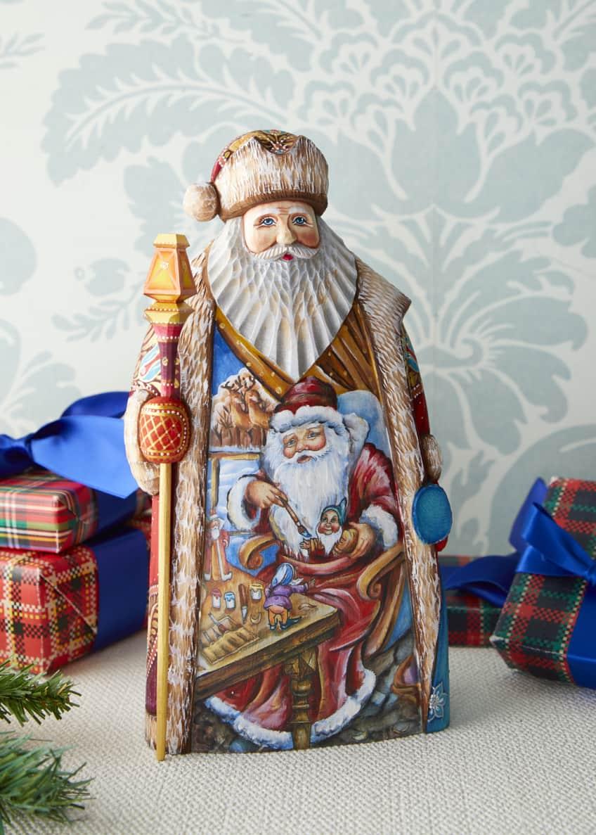 G. Debrekht Christmas Workshop Wood-Carved Santa Limited Edition