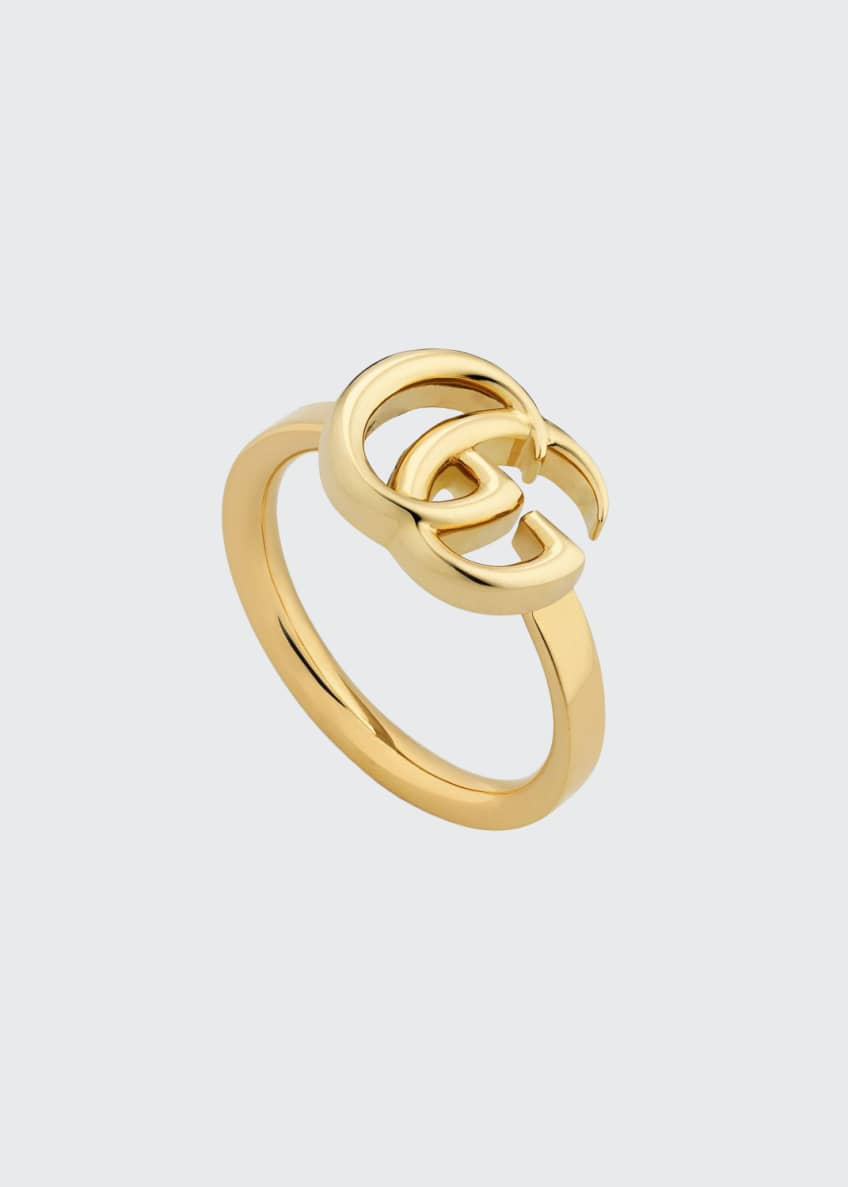 Gucci 18k Yellow Gold 13mm GG Running Ring,