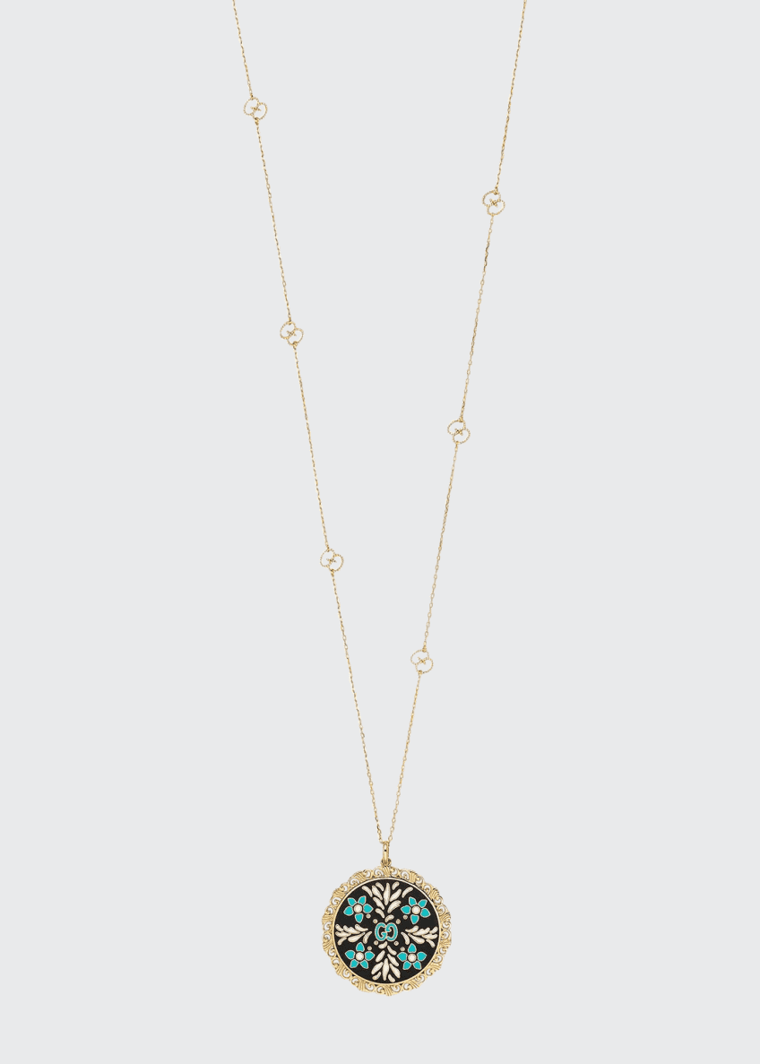Gucci Icon Blooms Pendant Necklace in 18K Gold,