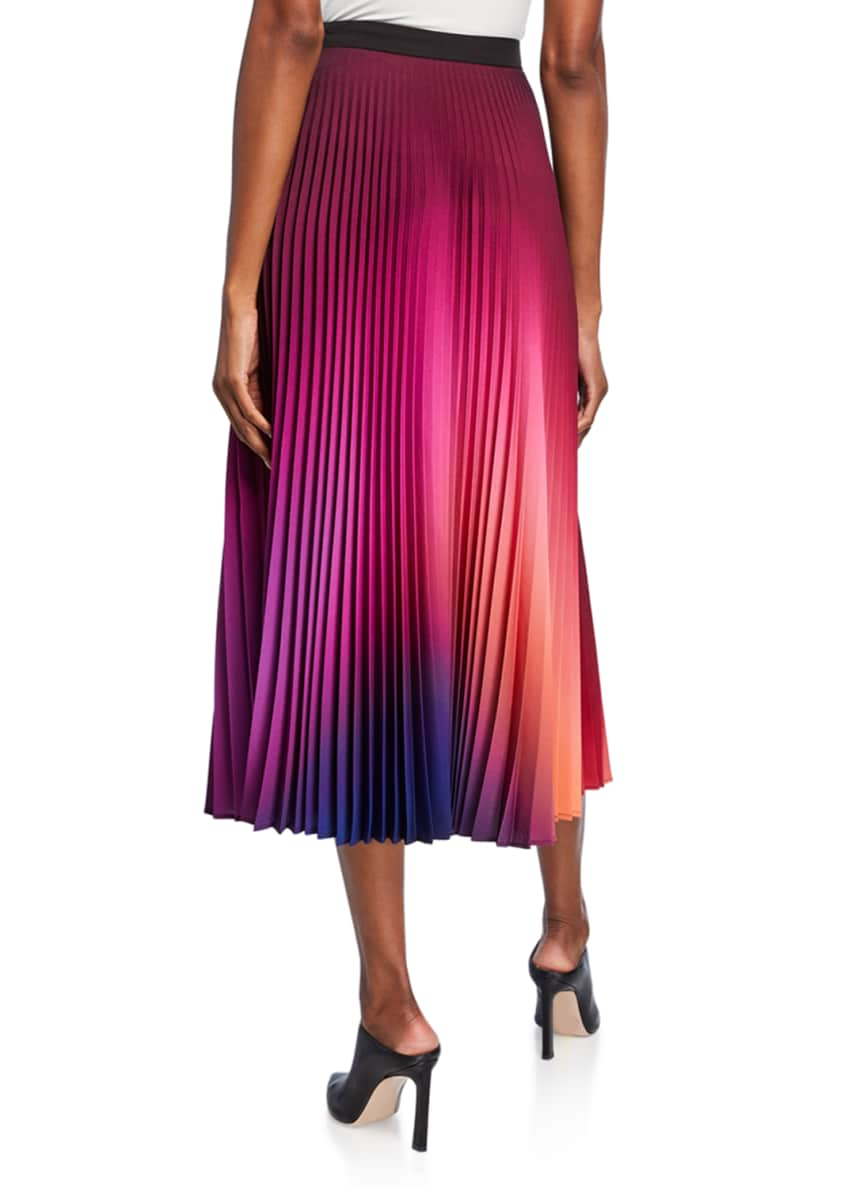 Image 2 of 3: Dip-Dyed Pleated Midi Skirt