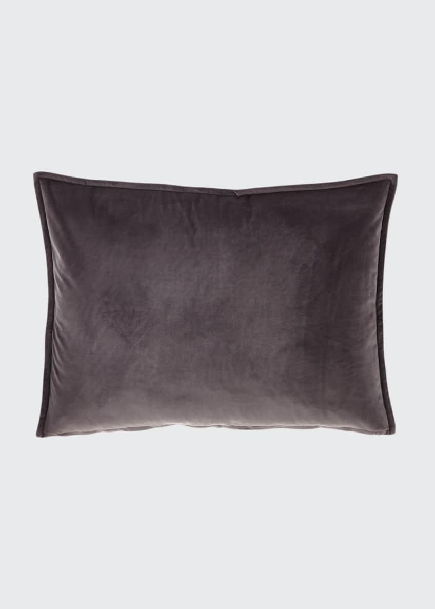 Fino Lino Linen & Lace Velvet Gray Standard