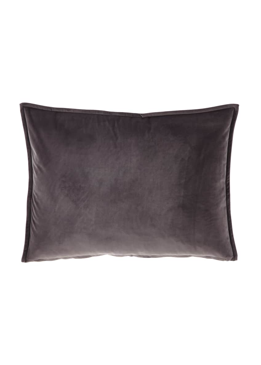 Image 1 of 1: Velvet Gray King Sham