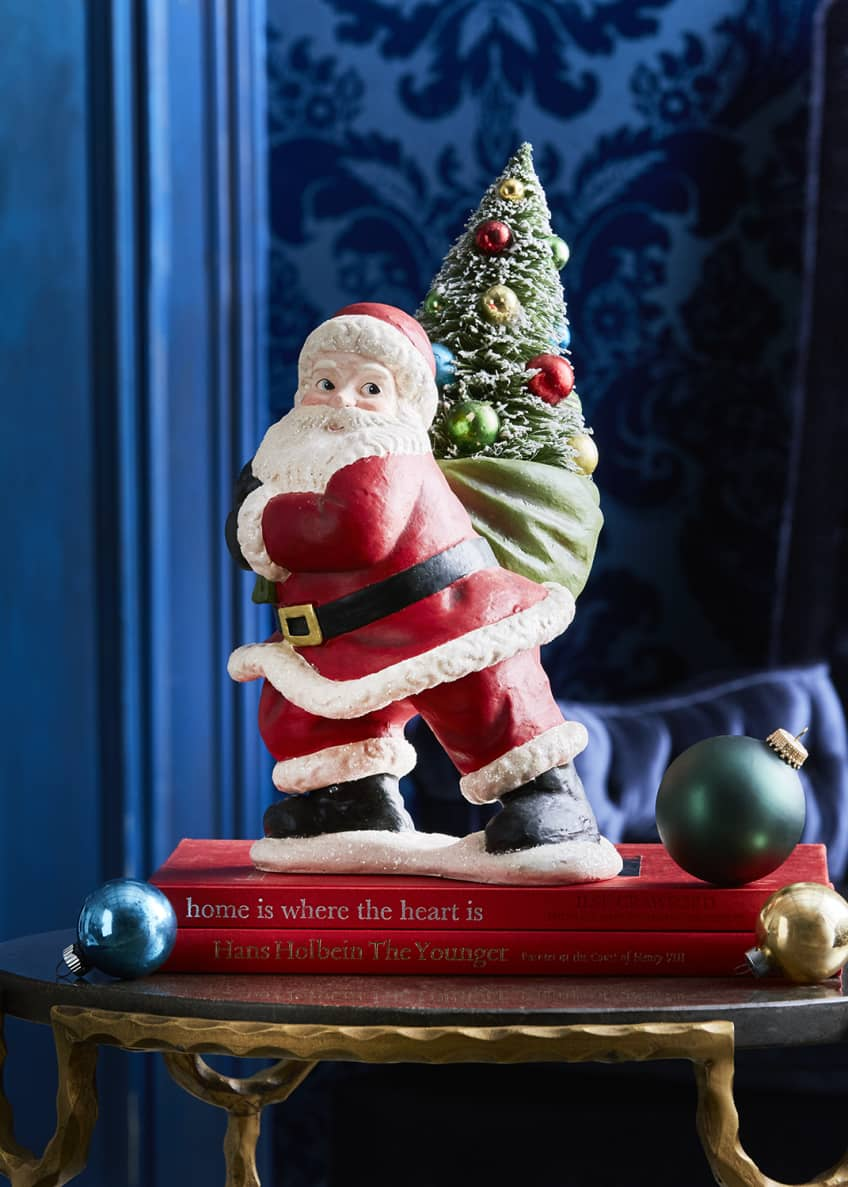 Bethany Lowe Merry and Bright Santa with Tree