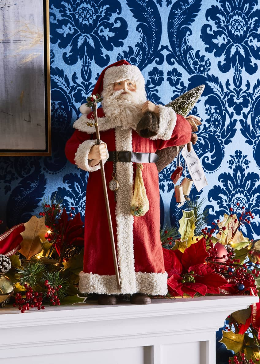 Bethany Lowe Santa with Bag of Toys