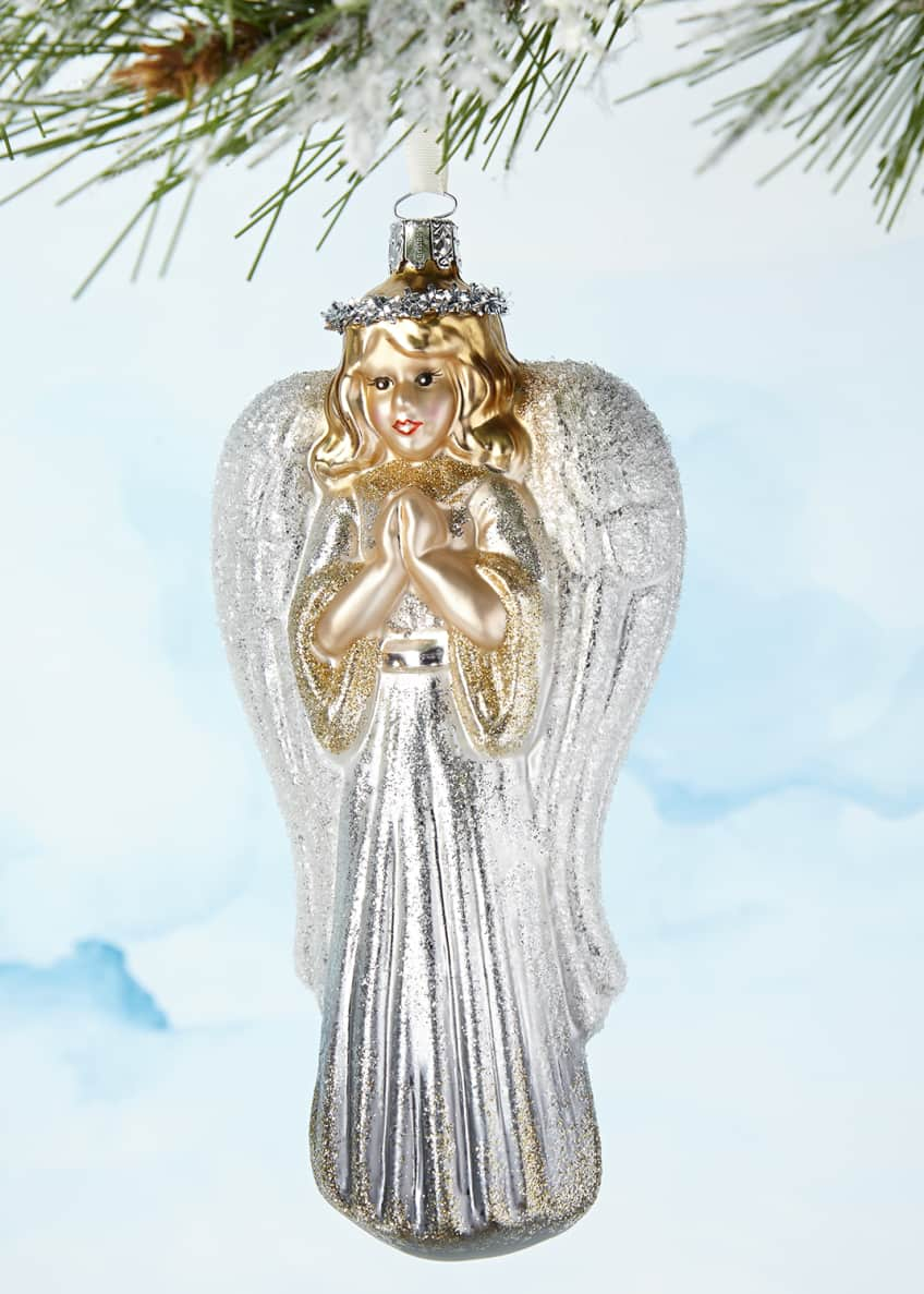 Image 1 of 1: Silver Angel Ornament