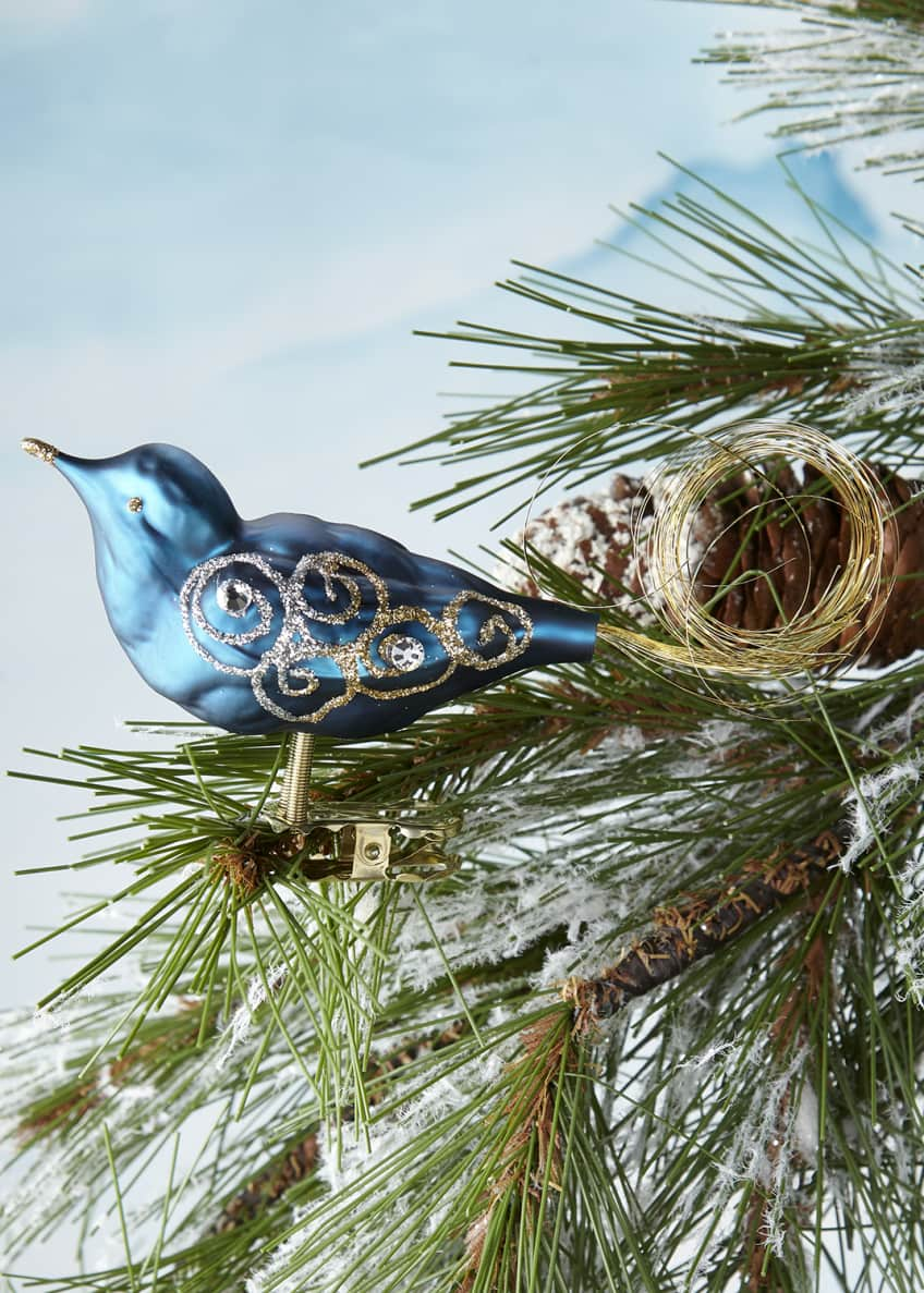 Blue Bird Clip Ornament