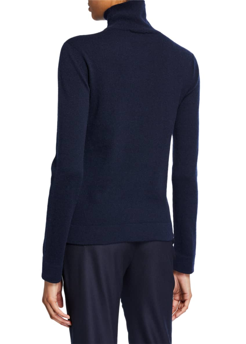 Image 2 of 2: Cashmere Tubular-Finish Turtleneck Sweater