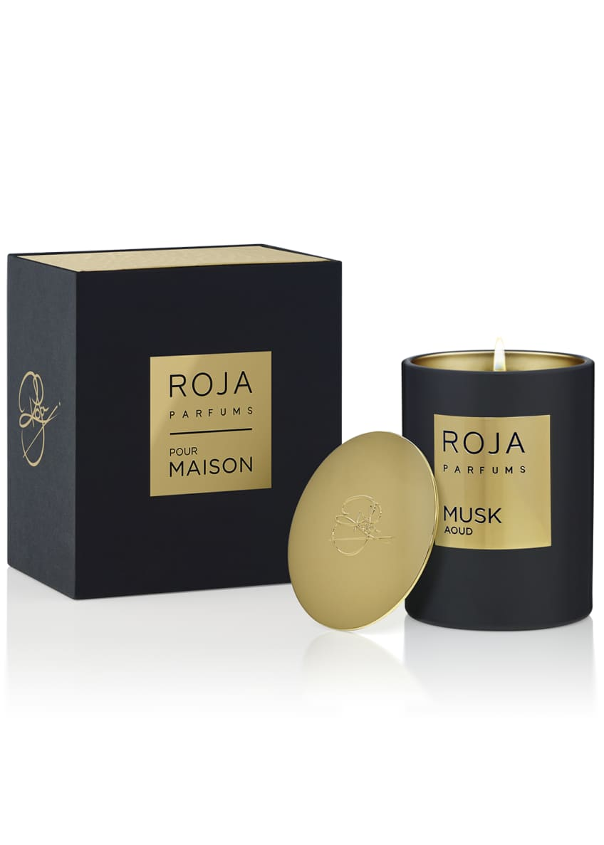 Image 2 of 2: Musk Aoud Candle, 7.8 oz./ 220 g