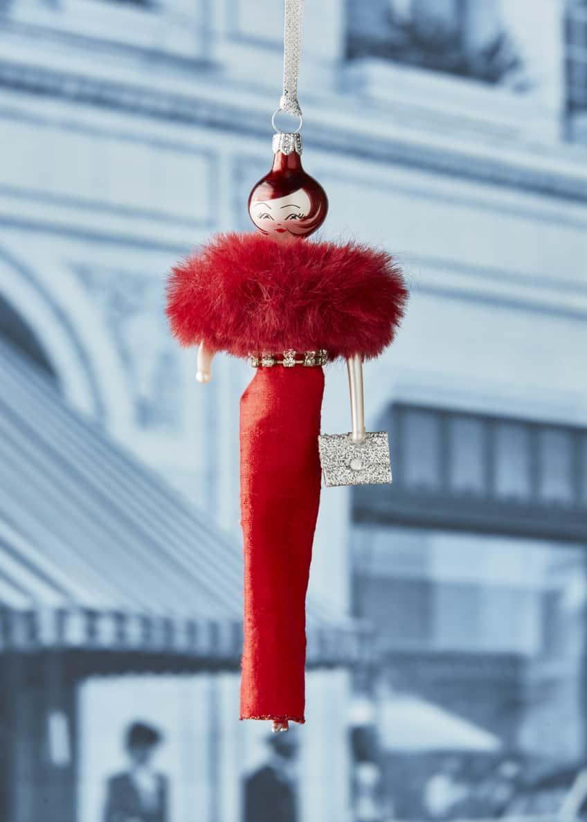 De Carlini Vivianna Red Gown Ornament
