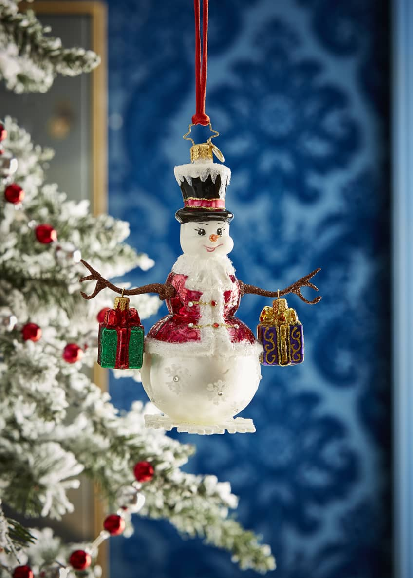 Christopher Radko Frosty Bearing Gifts Ornament