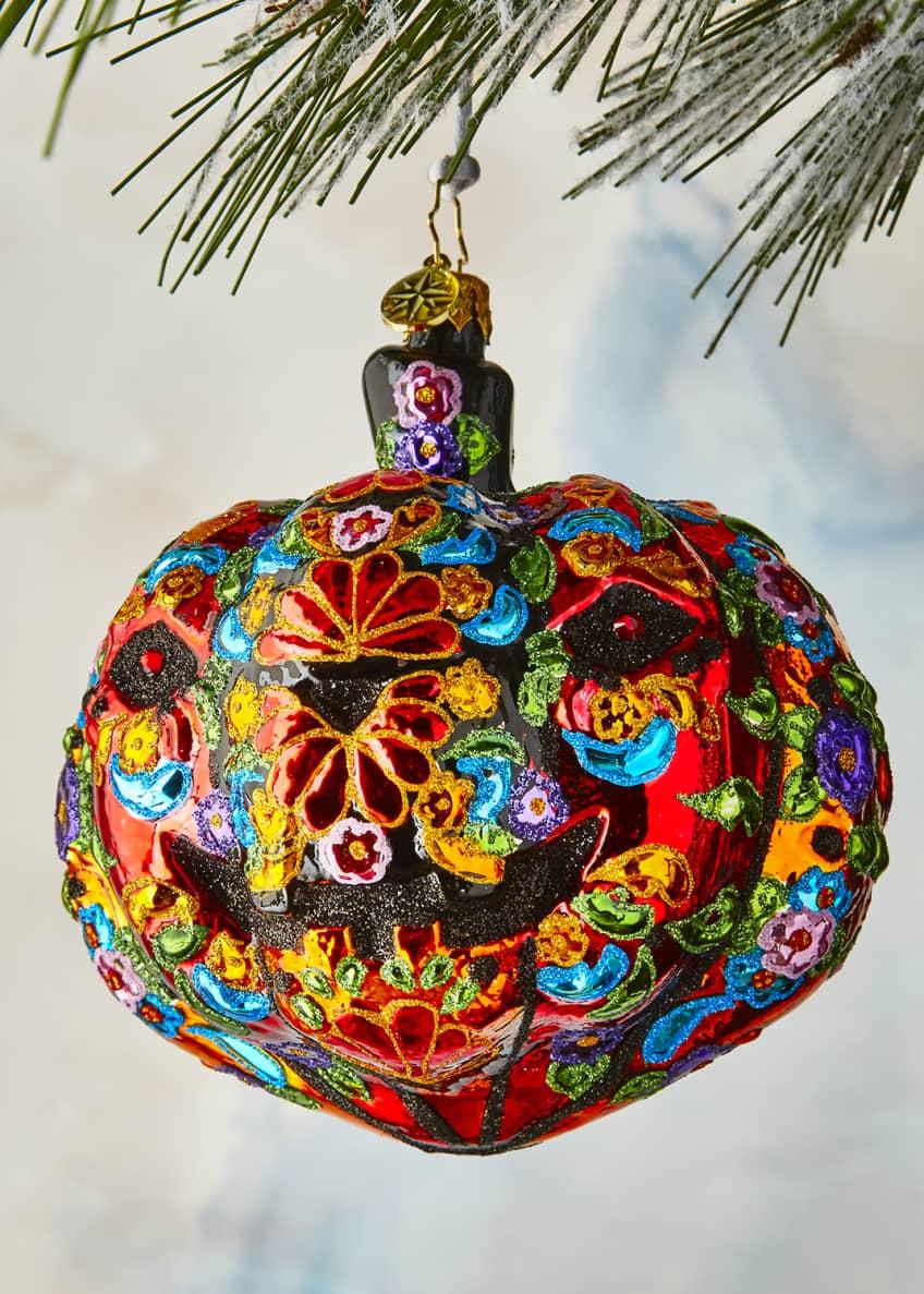 Christopher Radko Dia De Los Muertos Pumpkin Ornament
