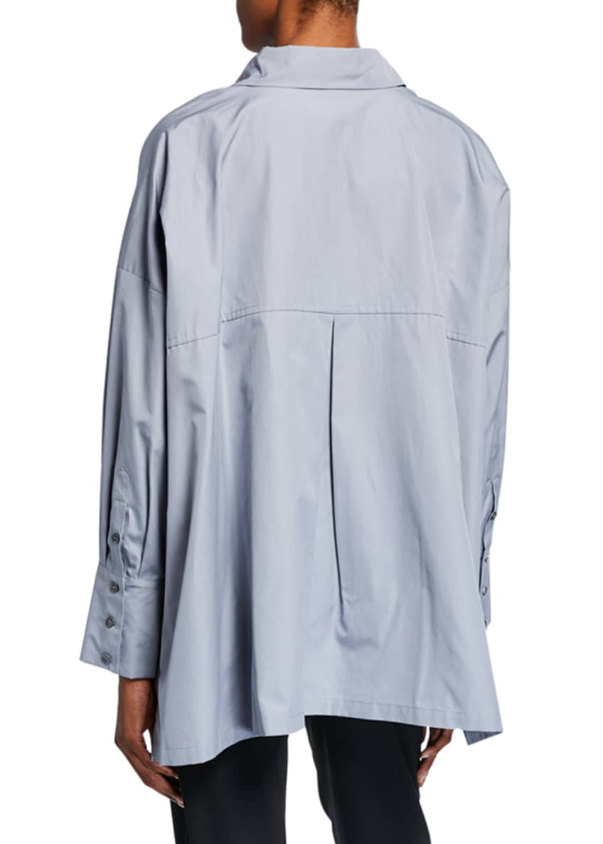 Image 2 of 2: A-Line Button-Front Shirt