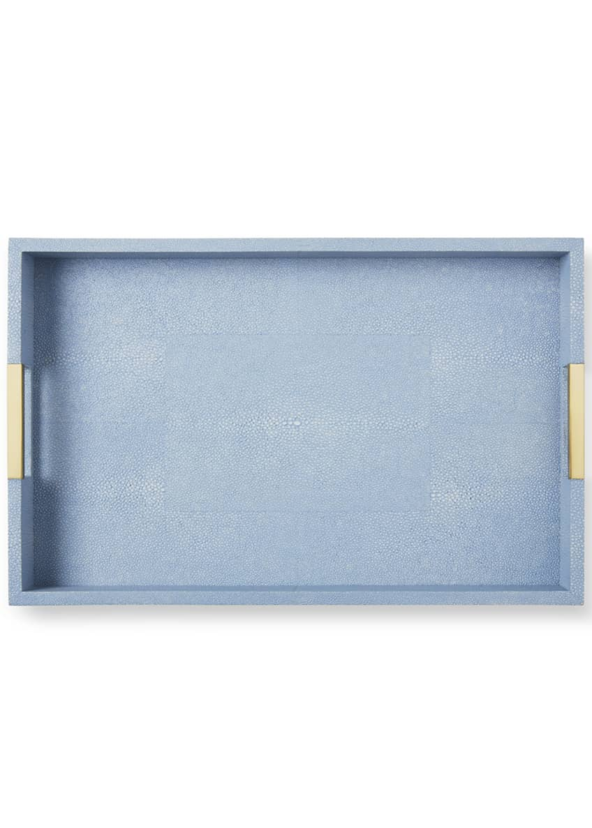 Image 2 of 3: Modern Shagreen Desk Tray