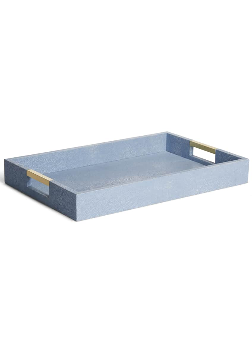 Image 1 of 3: Modern Shagreen Desk Tray