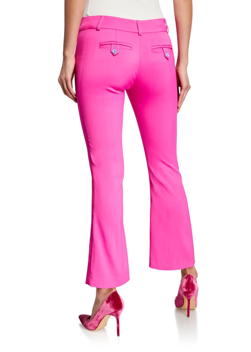 Image 2 of 3: Flare-Leg Seamed Pants