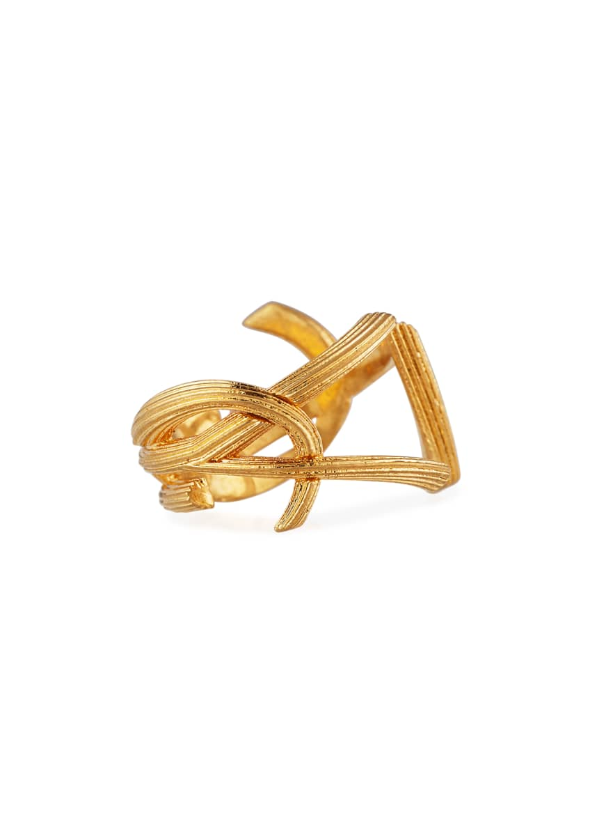 Image 3 of 3: YSL Monogram Split Ring, Size 7