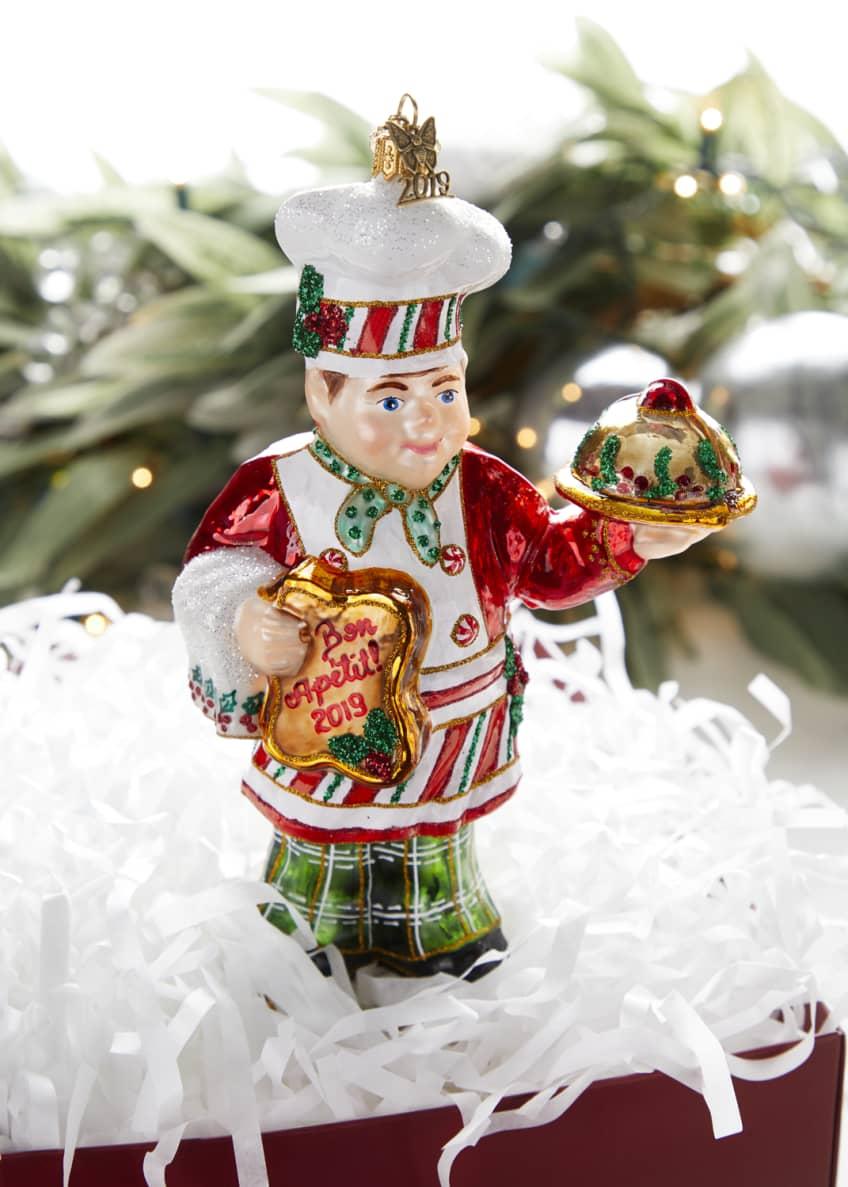 John Huras Gingerbread Chef Santa Christmas Ornament