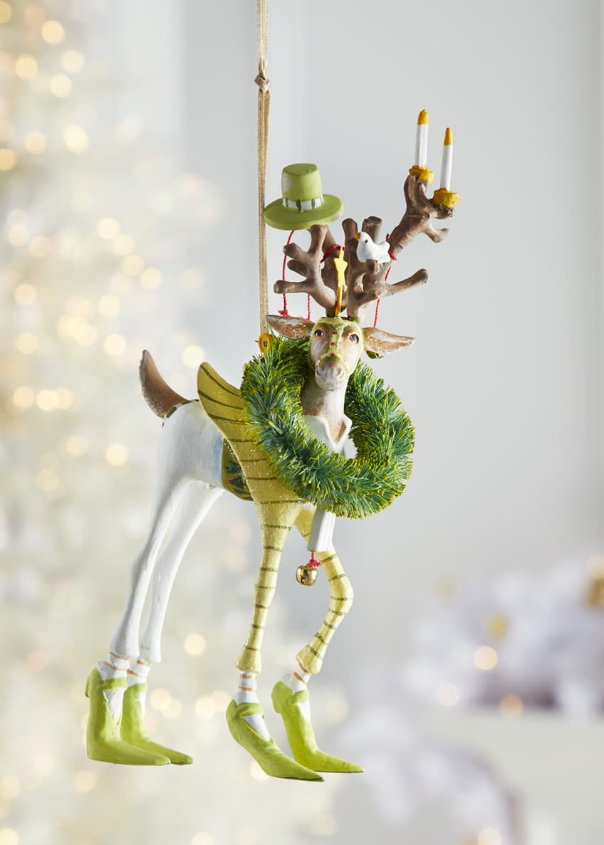 Image 1 of 1: Dash Away Prancer Reindeer Ornament