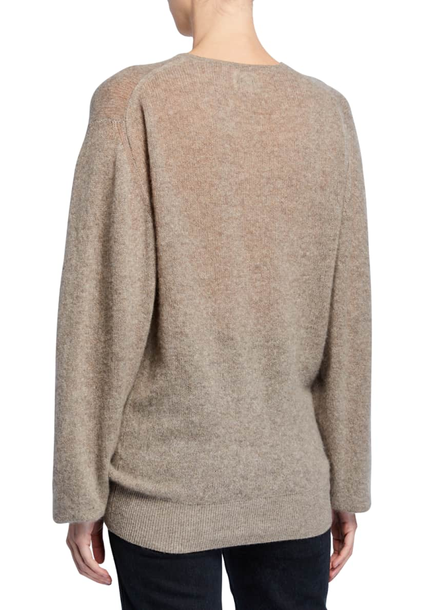 Image 2 of 5: Emma Cashmere Plunging Tie-Neck Sweater