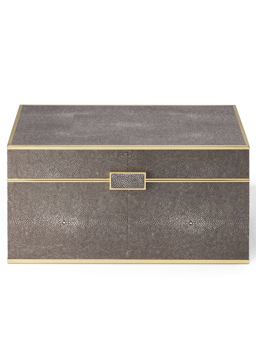 Image 2 of 4: Classic Shagreen Bar Set, Chocolate
