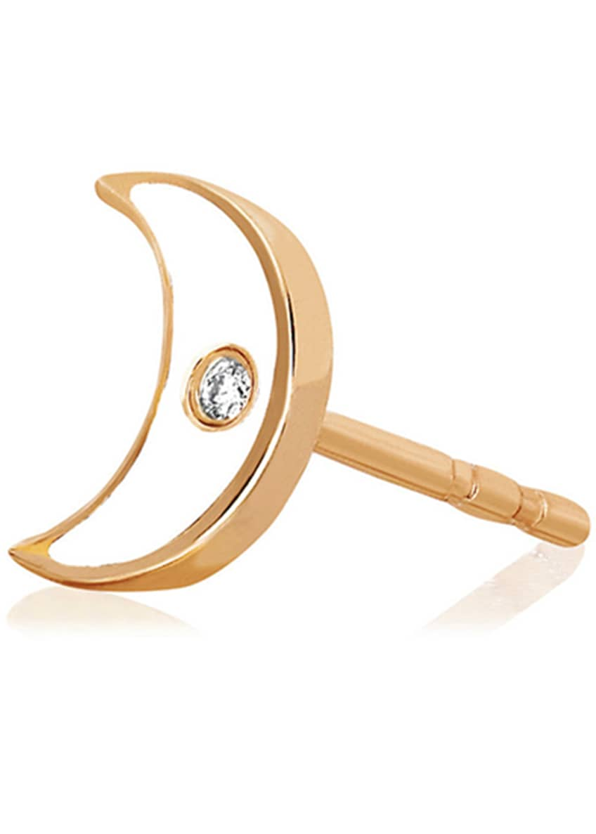 EF Collection 14k Rose Gold Diamond & Enamel