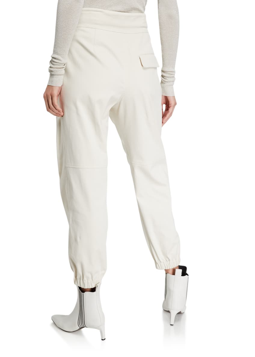 Image 2 of 4: Cotton Gabardine Belted Pants
