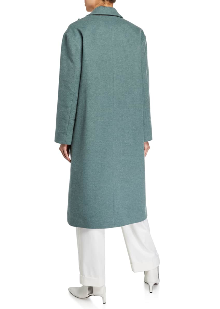 Image 2 of 4: Melton Wrap Coat
