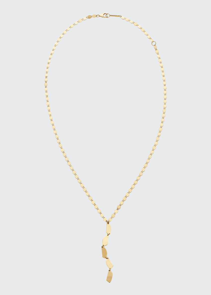 LANA 14k Gold 5-Shape Lariat Necklace