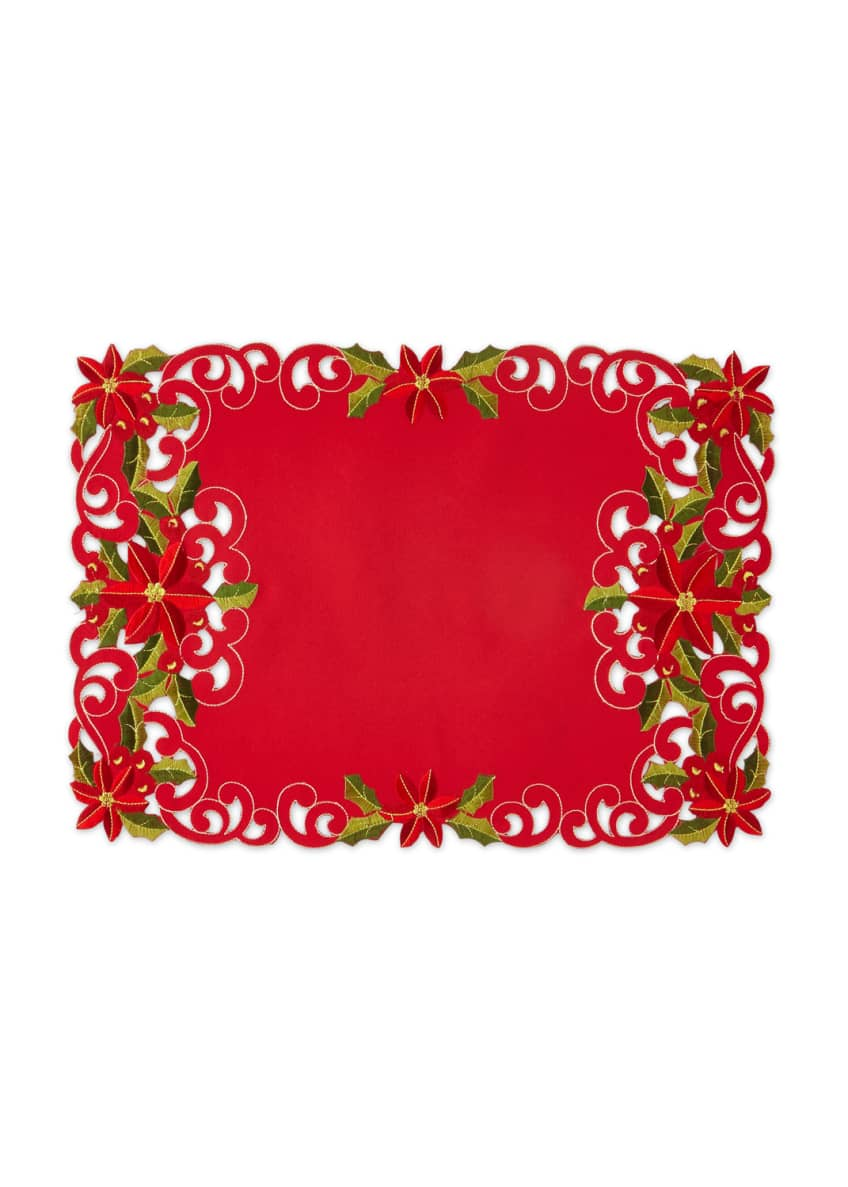 Image 1 of 1: Poinsettia Placemats, Set of 4