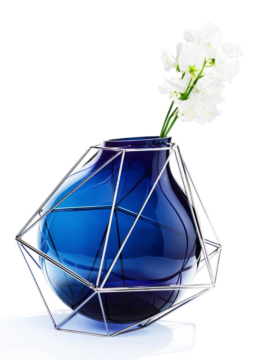 Atelier Swarovski Framework Blue Vase