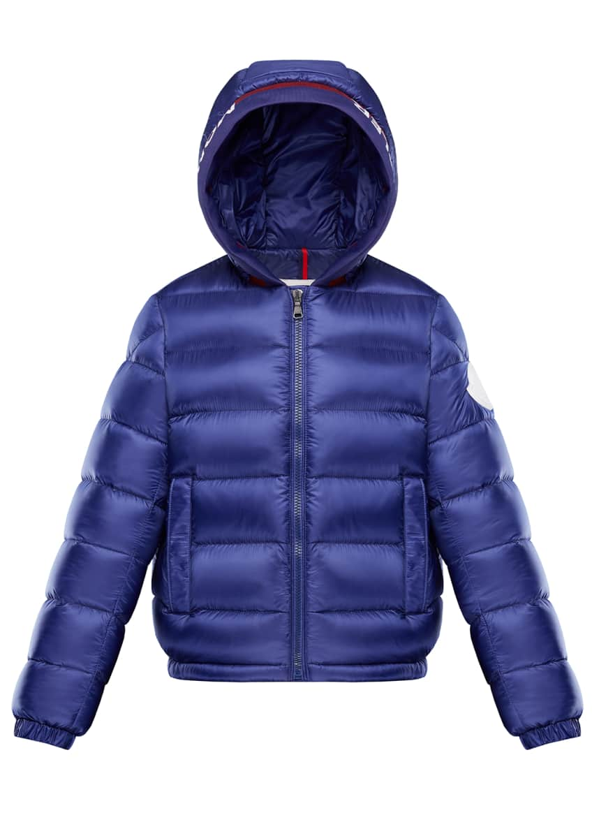 Moncler Basslong Season Quilted Logo-Trim Hooded Puffer Jacket,