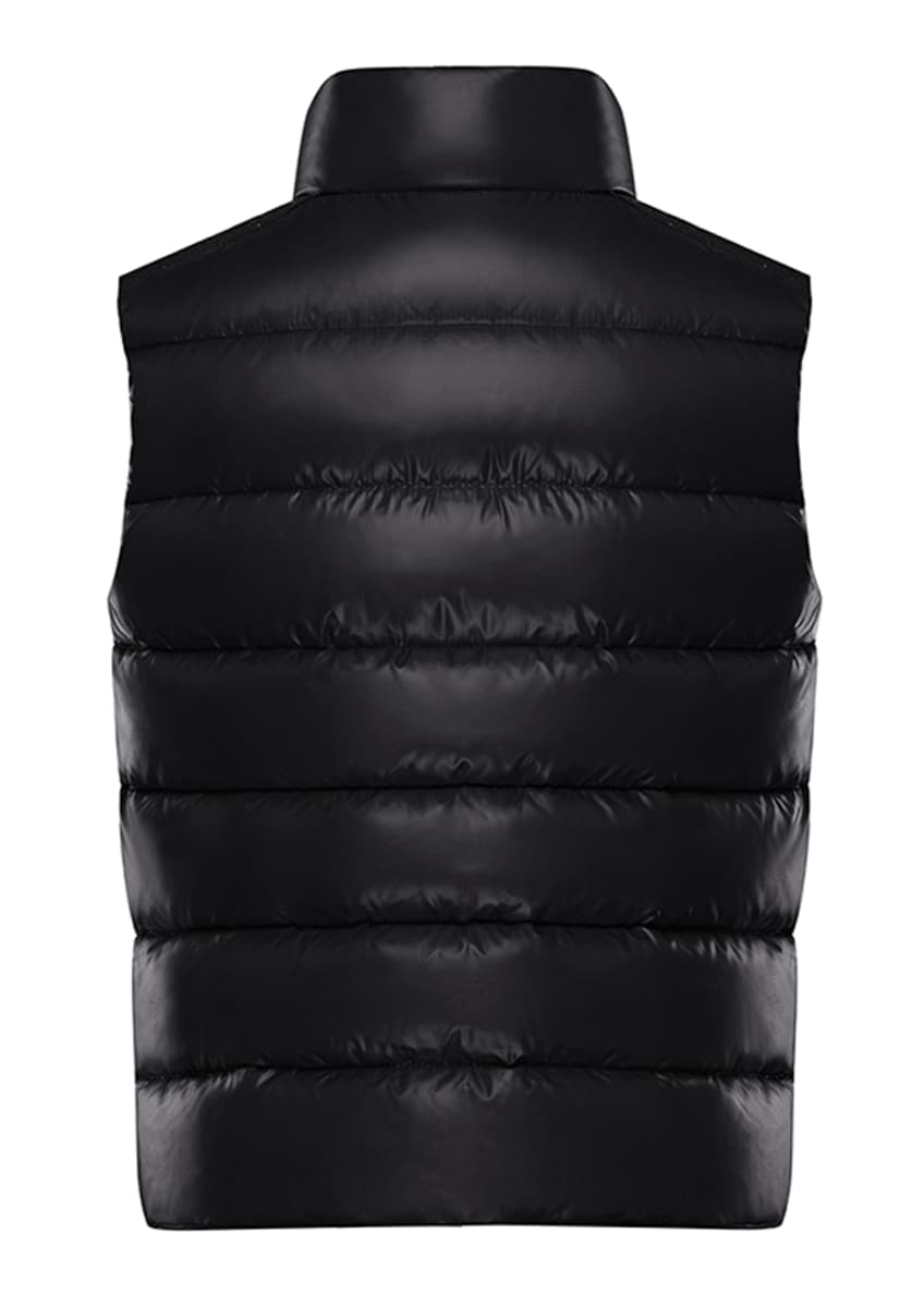 Image 2 of 4: Quilted Nylon Snap-Front Puffer Vest, Size 4-6