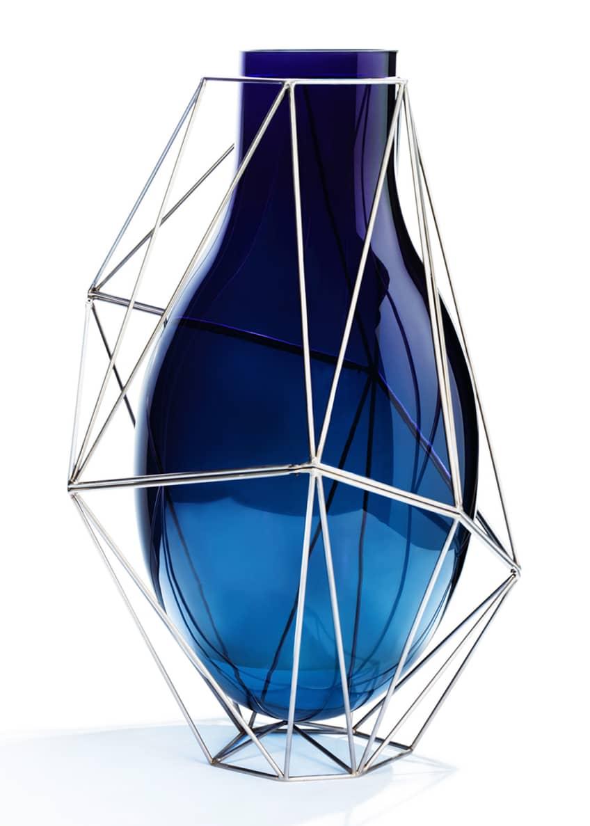 Atelier Swarovski Framework Tall Blue Vase