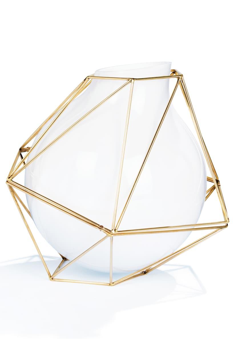 Atelier Swarovski Framework White Vase