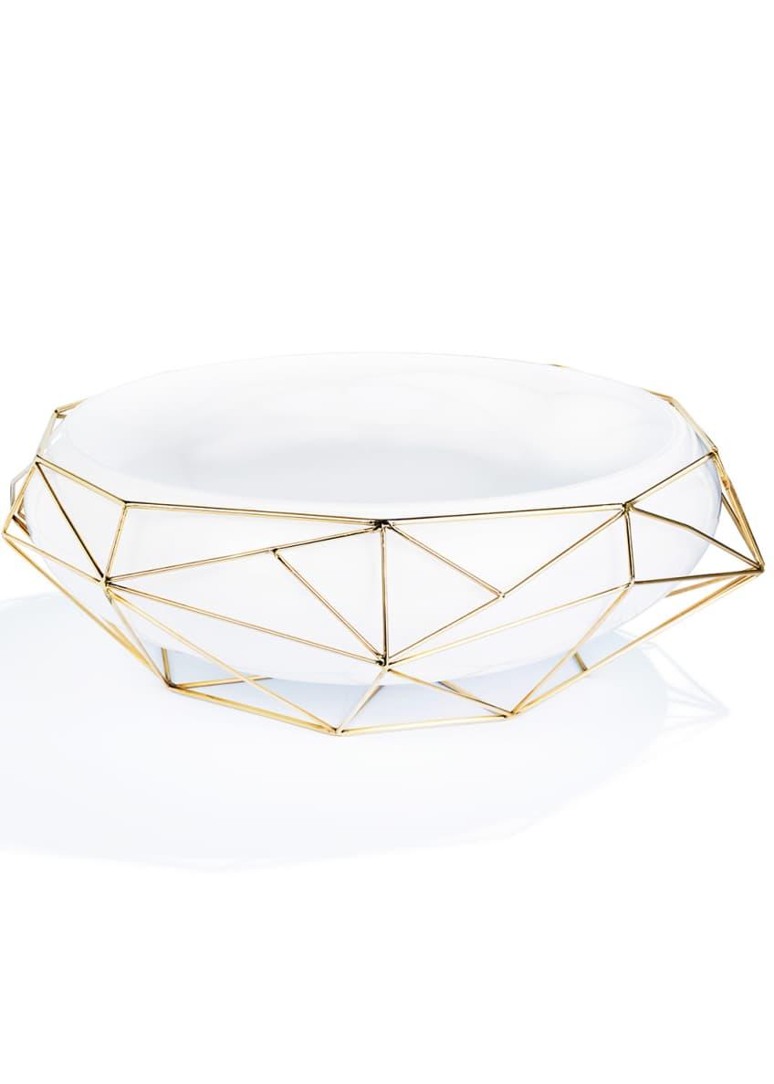 Atelier Swarovski Framework White Bowl