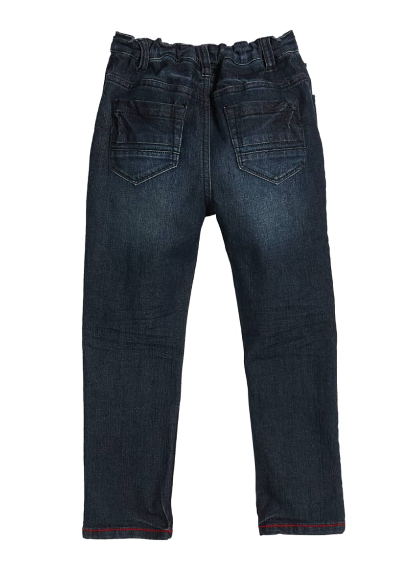 Image 2 of 5: Slim Fit Denim Jeans w/ Children's Book, Size 3T-10