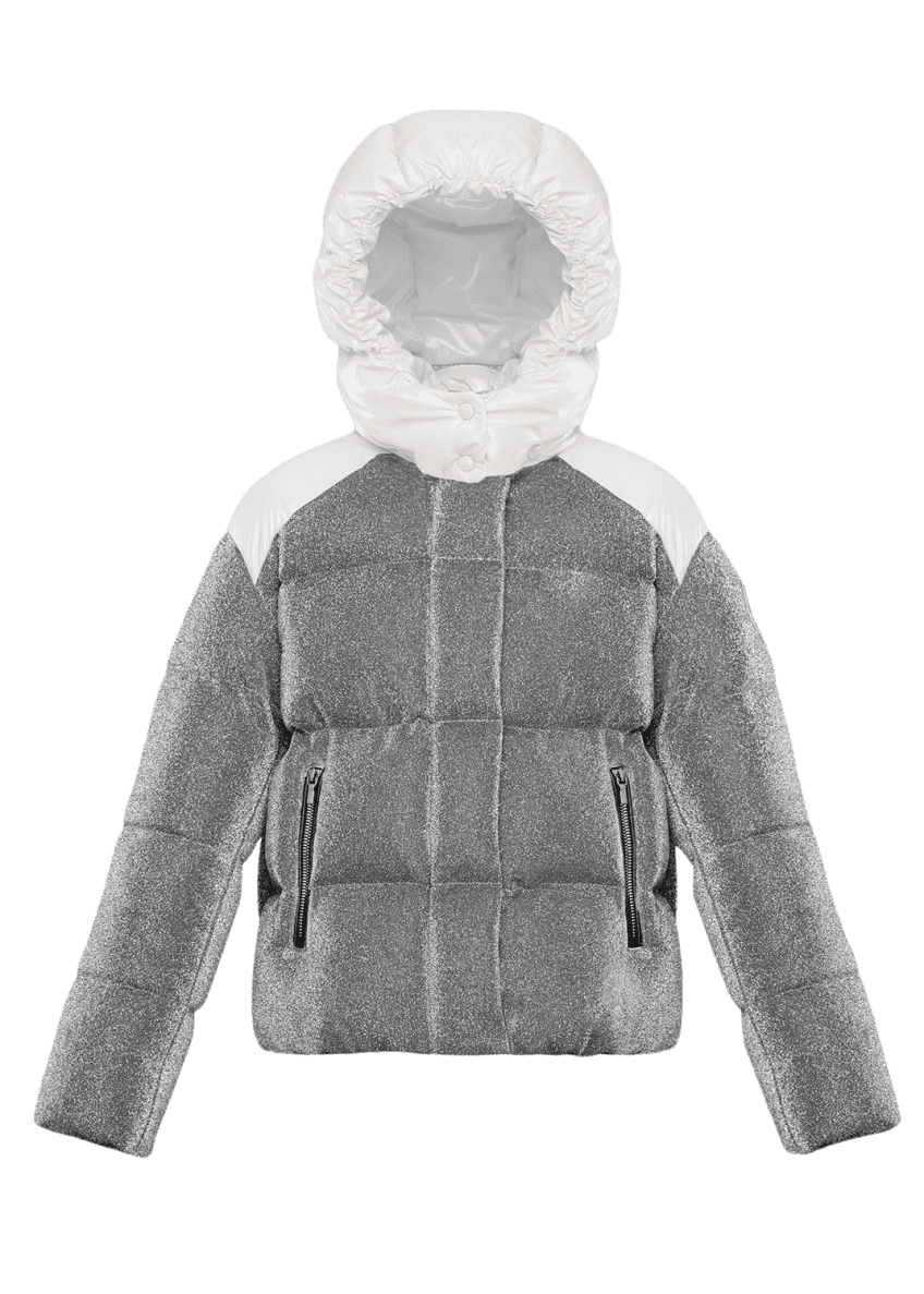 Image 1 of 4: Chouette Sparkles Detachable-Hood Puffer Coat, Size 8-14