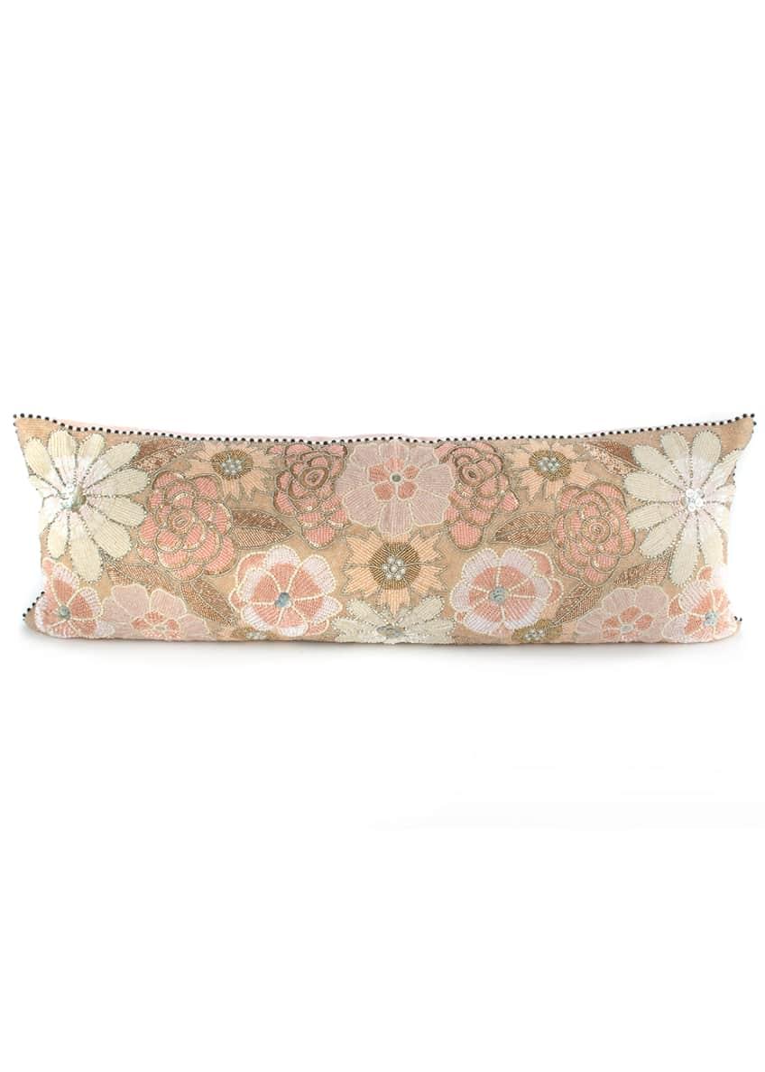 MacKenzie-Childs Giulietta Flower Lumbar Pillow