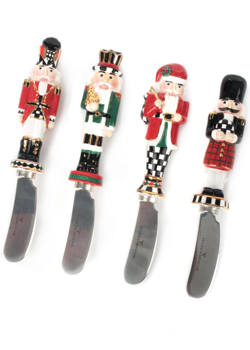 MacKenzie-Childs Castle Guard Canape Knives, Set of 4