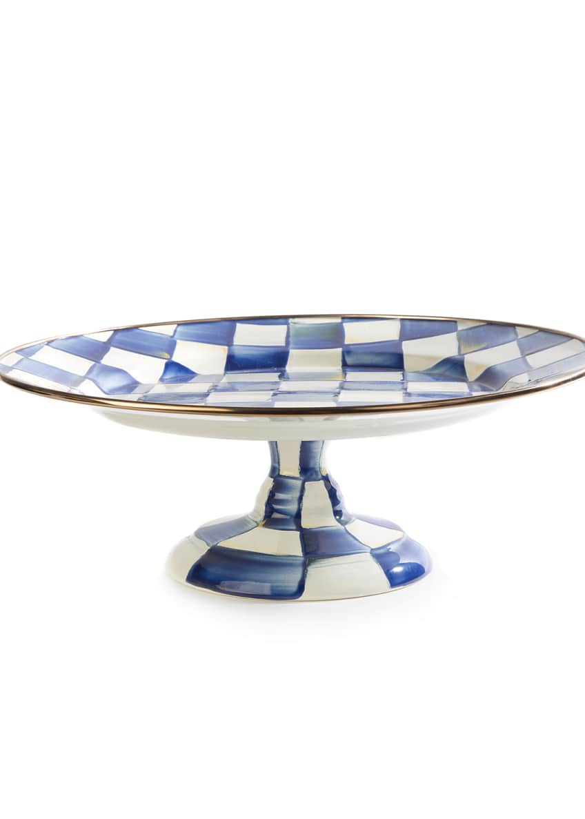 Image 1 of 1: Royal Check Pedestal Platter